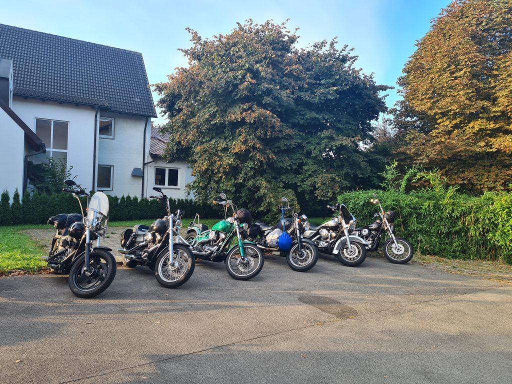 Motorräder willkommen im Hotel Hiemer